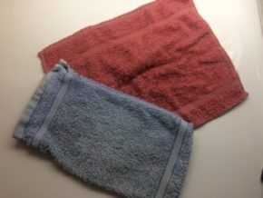 photo of towelling mitt & flannel