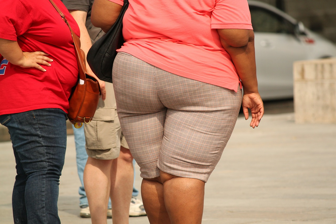 A picture of obese people