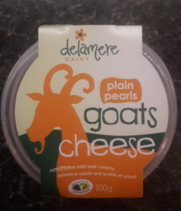 photo of pot of Delamere goat's cheese pearls