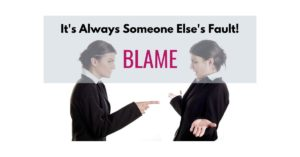 It's always someone else's fault: Blame