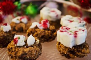 Minty carob liver bonbons for dogs - add the frozen topping