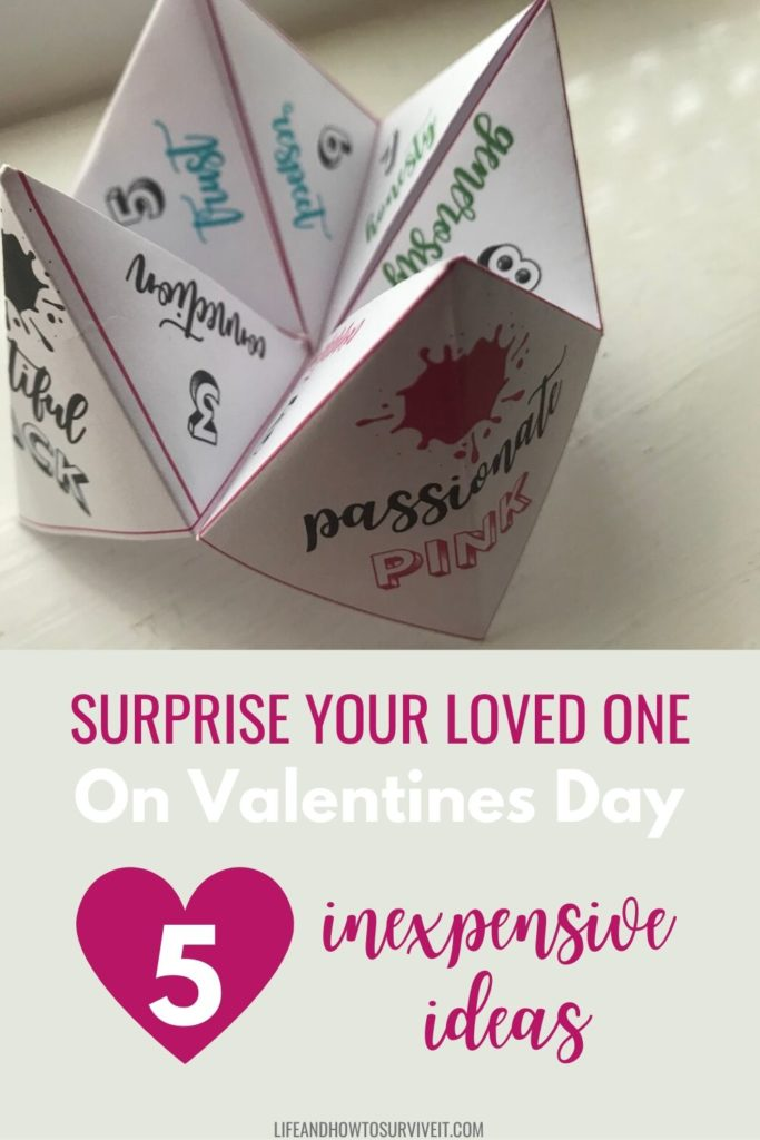 Surprise your loved one on Valentines Day - 5 inexpensive ideas