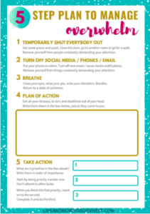 Image of 5 Step Plan To Manage Overwhelm