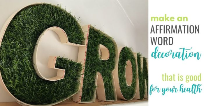 Grow fake grass decorative letters