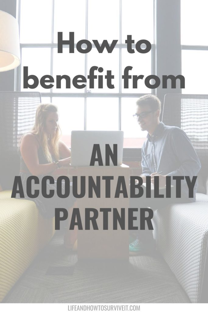 How to benefit from an accountability partner